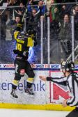 Så här glad var Erik Andersson efter att han satte  4-1 målet, 27 sekunder efter AIK:s 3-1 reducering.